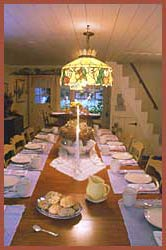 Dining at Isaiah Hall Bed and Breakfast Inn, Cape Cod Mass.
